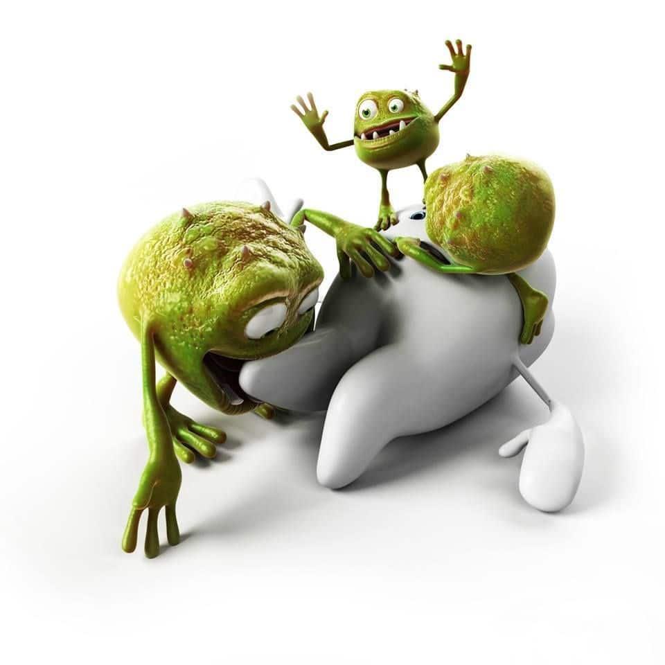 bacteria eating the teeth